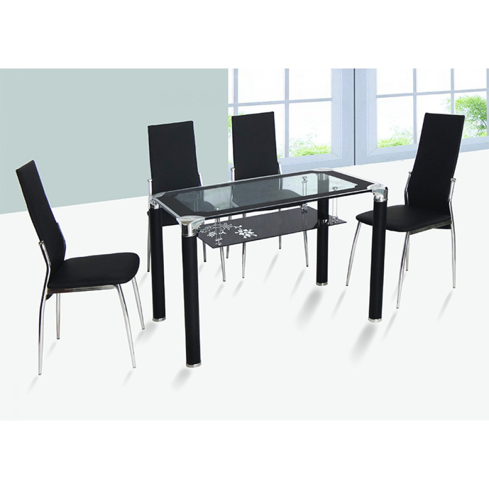 "Table +4 Chair ( DT-28) 51*32 "" 3 Box"