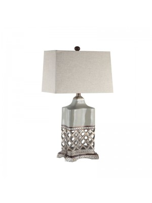 "Table Lamp .Rectangla  Hard back shade ,7/14 *8/15 *11""H,1 / 1 Box"
