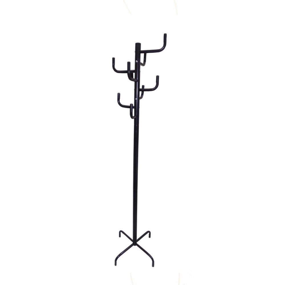 Coat hanger with black color, 1 box