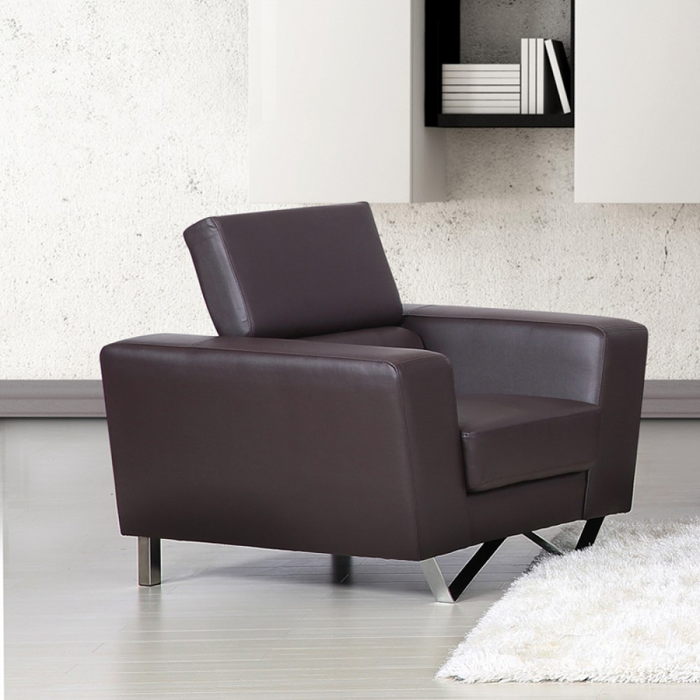 Top Grain leather Match chocolate color  Chair