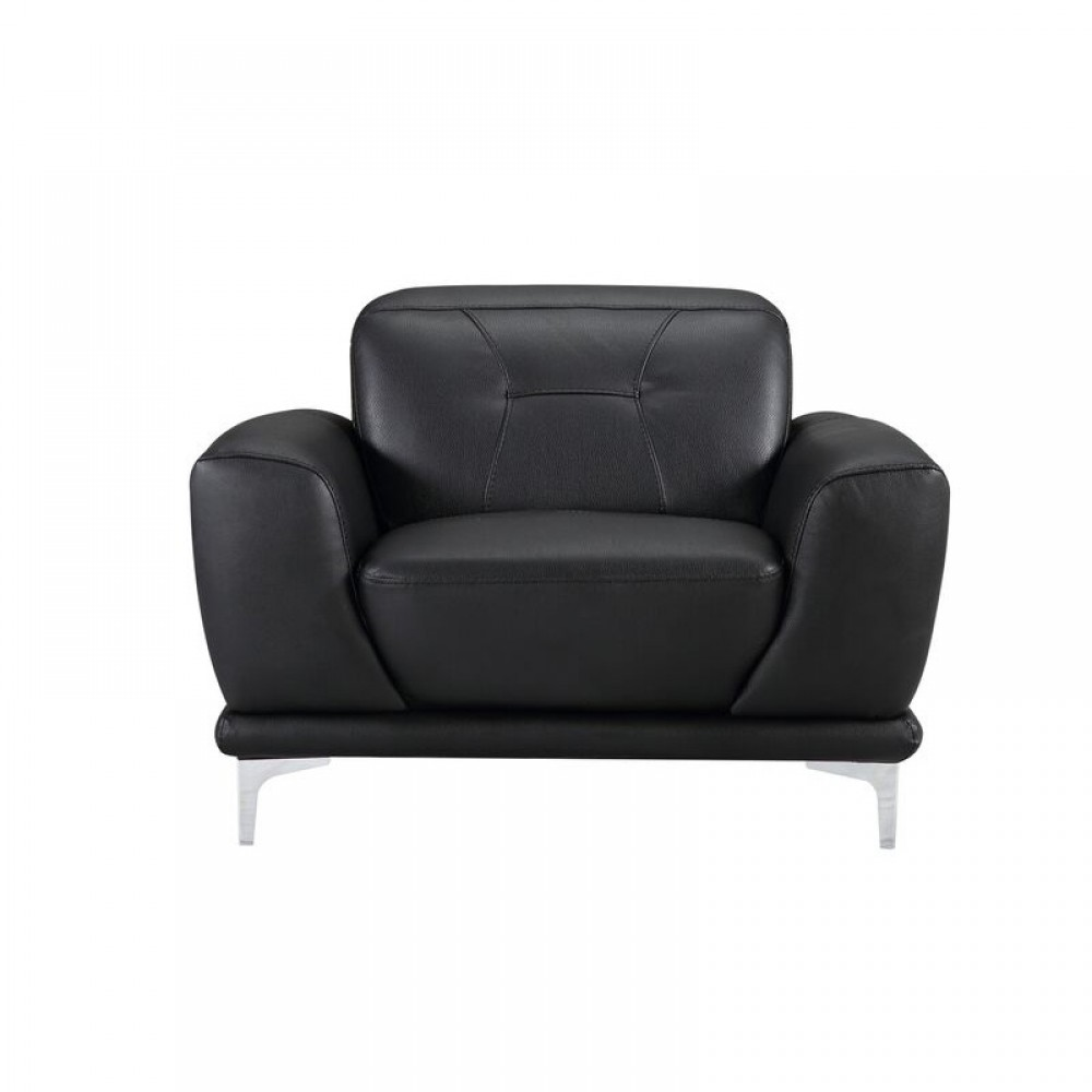 "Air Leather Fabric Chair,43*40.55*31.5-36.7""H,Black Color"