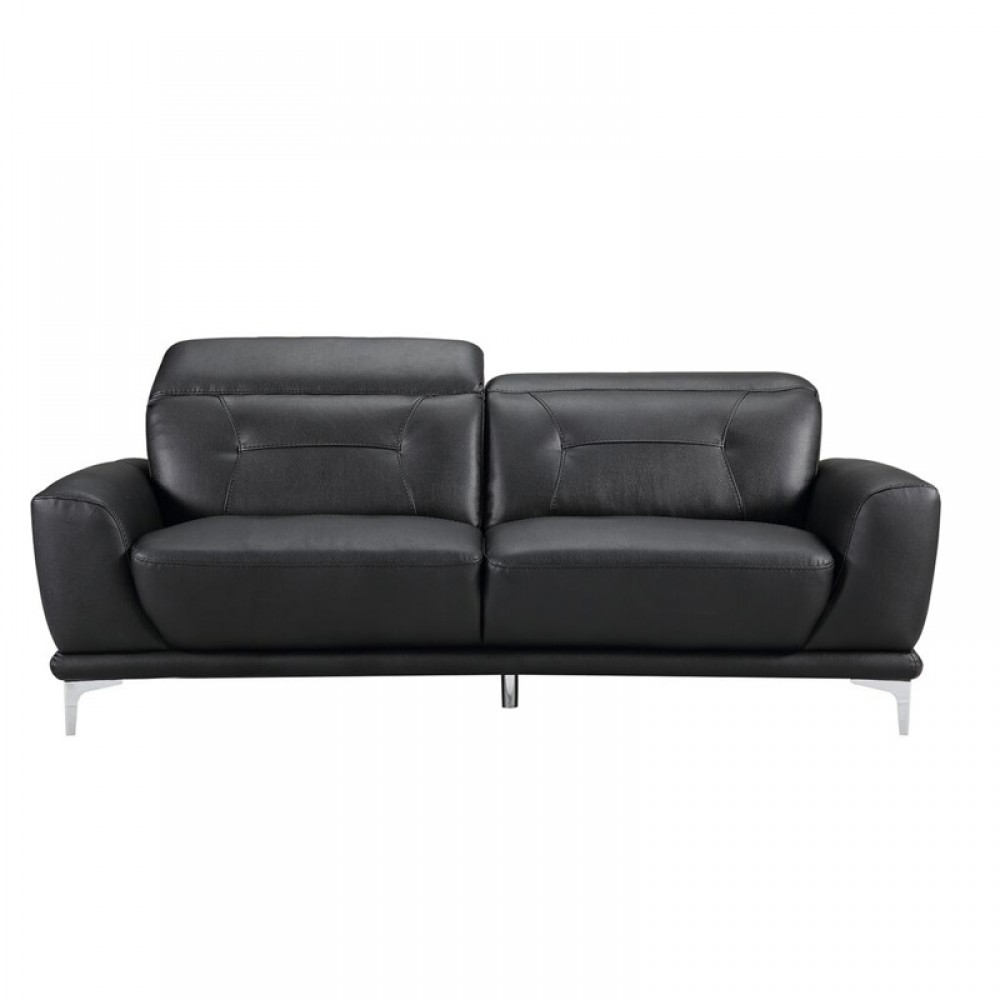 Stupendous Air Leather Fabric Sofa 80 32 40 55 31 5 36 7H Black Color Squirreltailoven Fun Painted Chair Ideas Images Squirreltailovenorg