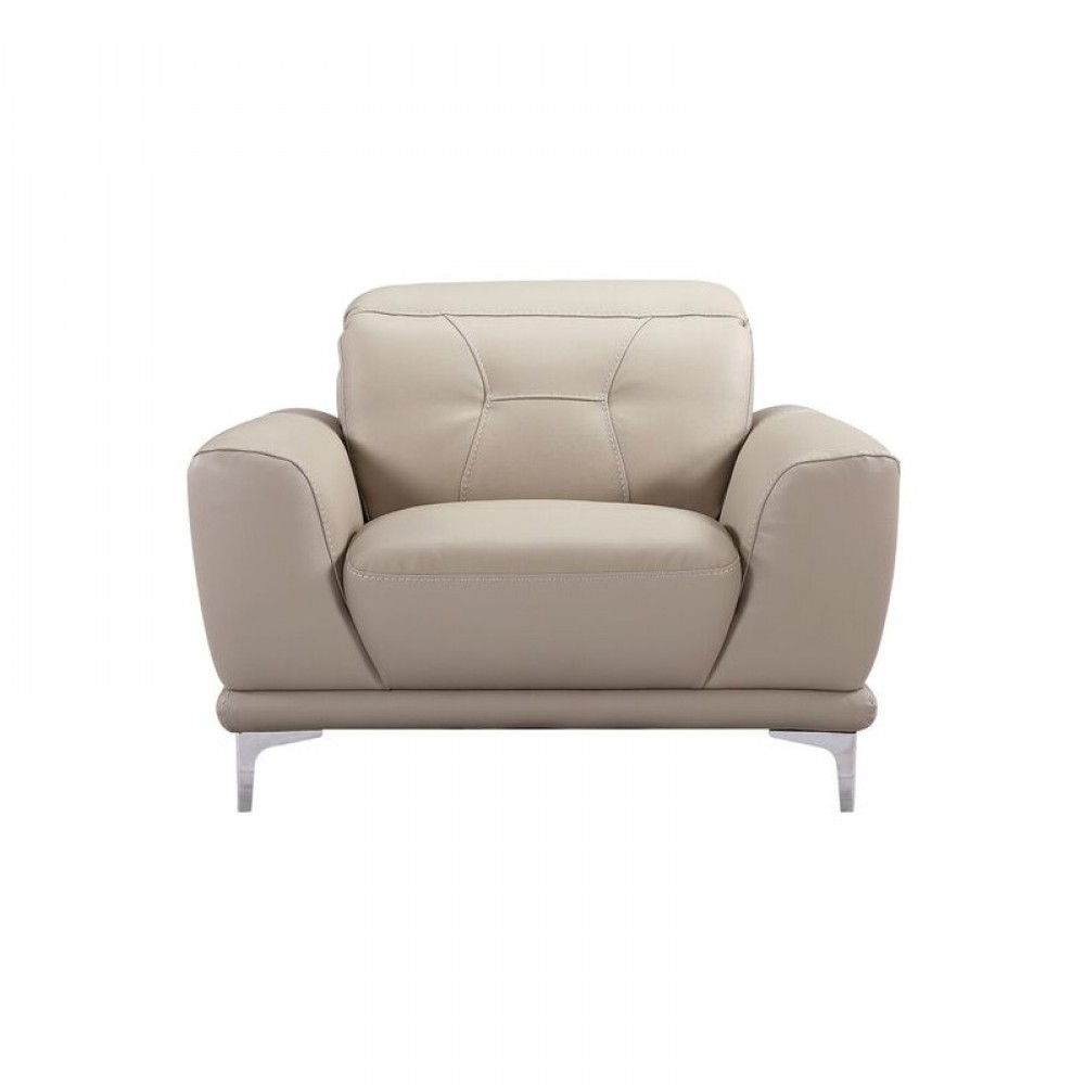 """Air Leather Fabric Chair,43*40.55*31.5-36.7""""H, Grey Color"""