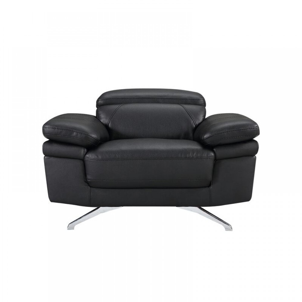 """Air Leather Fabric Chair, 45.7*40.55*28.5-35.5""""H, Black Color"""