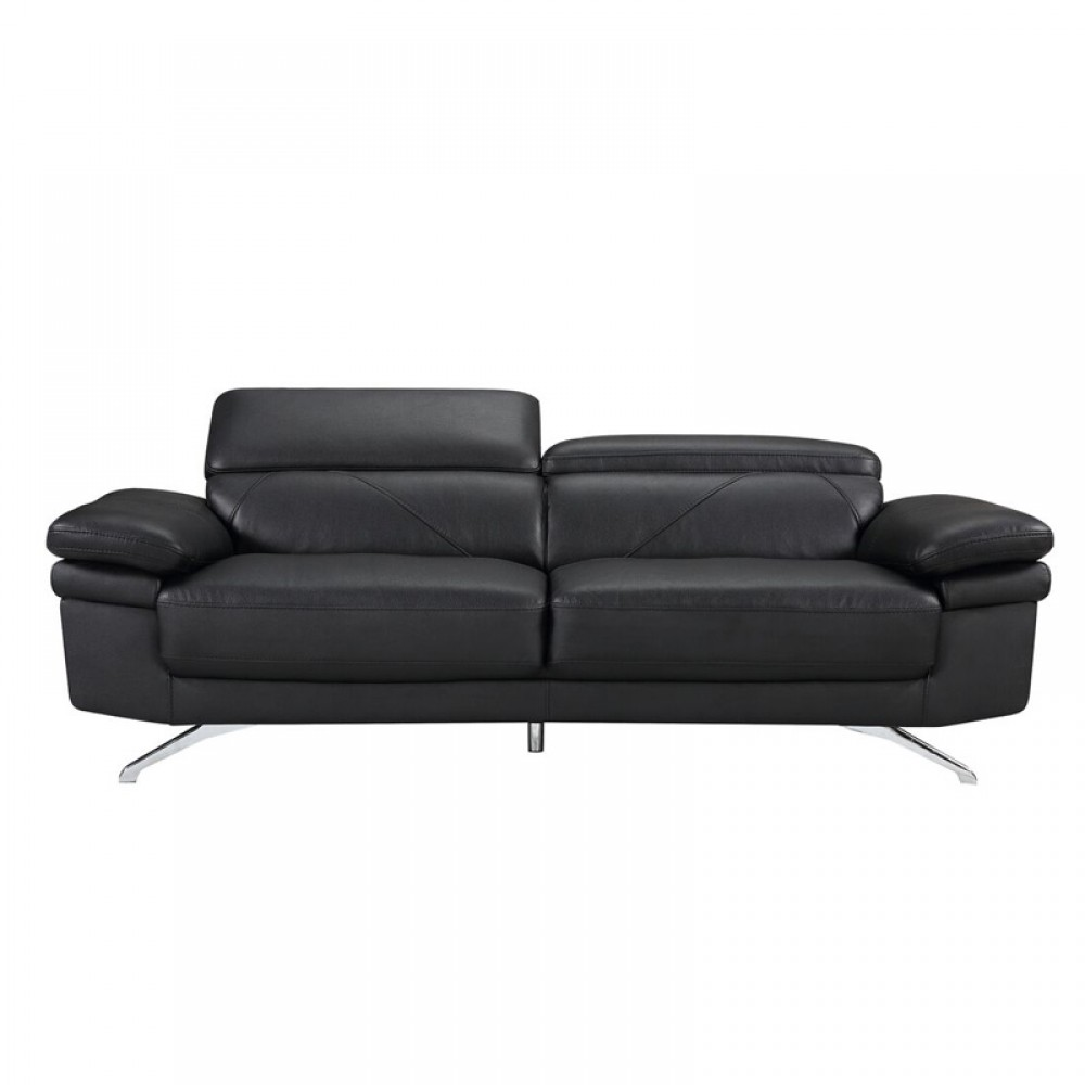 Terrific Air Leather Fabric Sofa 84 7 40 55 28 5 35 5H Black Color Ocoug Best Dining Table And Chair Ideas Images Ocougorg