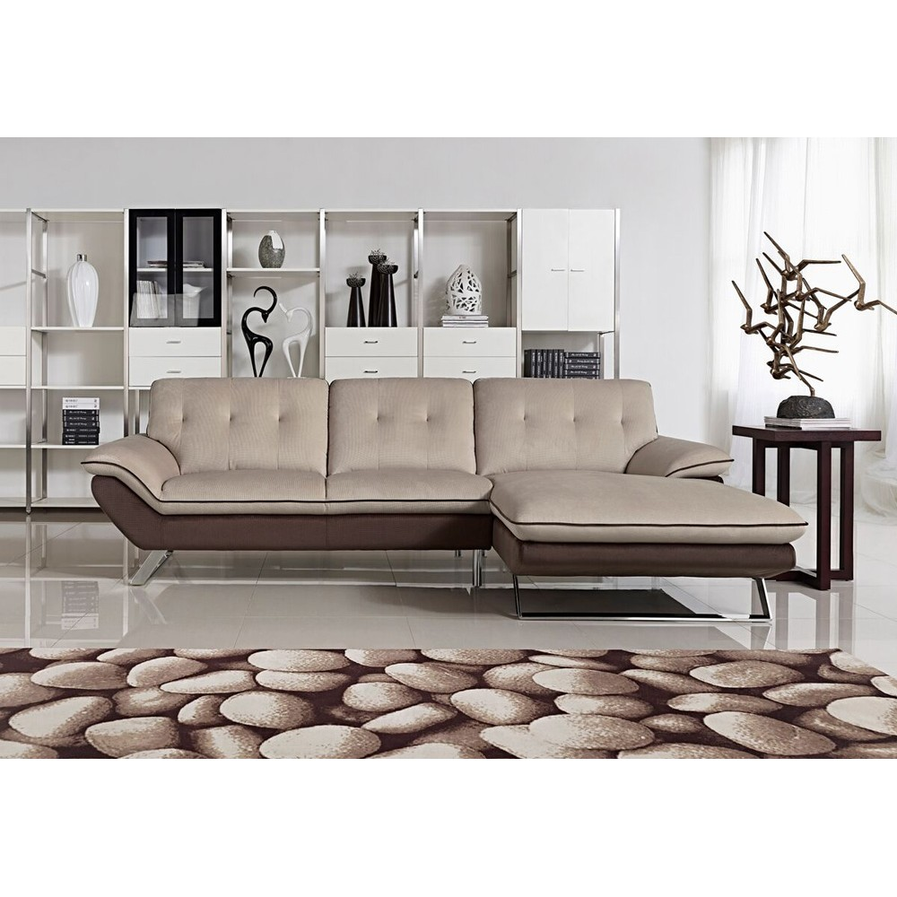 Brilliant 2 Pcs Fabirac Sectional Sofa Facing Right 110 63 33H 1 Pabps2019 Chair Design Images Pabps2019Com